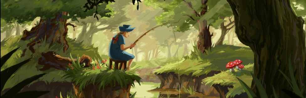 Fishing in Forest